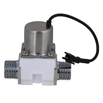 DC6V 1/2inch Electric Solenoid Valve Water Fuel Electromagnetic Valve Blanc