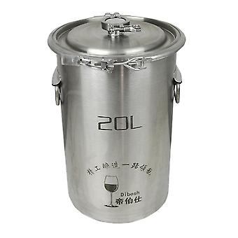 304 Stainless Steel Fermenter Fermentation Barrel Home Brew Wine Beer Fermenters 20l Without Faucet