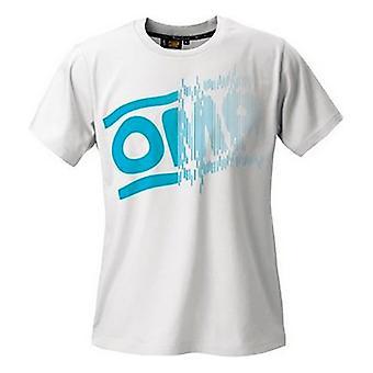 メンズ半袖Tシャツ OMP ストライプロゴ ホワイト