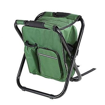Outdoor folding stool portable backpack chair