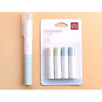 1pc + 4cs Refill Pen Type, Solid Glue Stick, Set Accessories