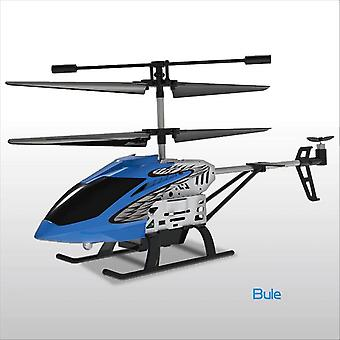 Helicopter Metal Mini RC Drone RC Helicopter(Blue)