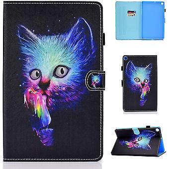 FengChun Galaxy Tab A 10.1 Zoll 2019 Hülle PU Leder Flip Case Cover Magnetisch Ständer Tasche Tablet