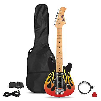 Toyrific Academy Of Music 30in Electric Guitar Guitar Flames