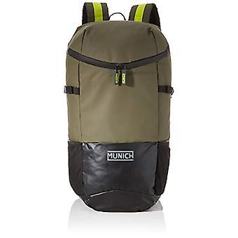 Munich Backpack 1 Outer, Unisex-Adult Backpack, Green (Khaki), 18x29x48 cm (W x H x L)
