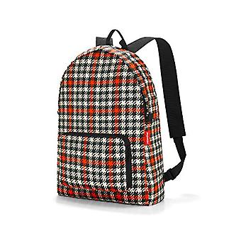 Reisenthel mini maxi rucksack glencheck red Backpack Casual 45 Centimeters 14 Multicolored (Glencheck Red)