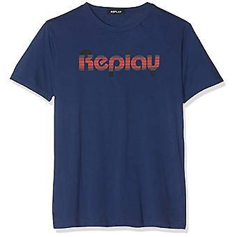 REPLAY M3863 .000.22038 T-Shirt, Blue (Deep Royal 788), X-Large Men