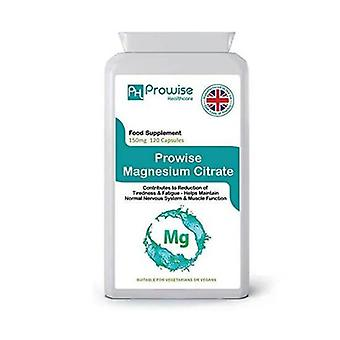 Magnesium Citrate 150mg 120 Capsules | Suitable For Vegetarians & Vegans | Made In UK by Prowise