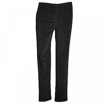 Latte Slim Fit Stretch Dogtooth Print Jeans