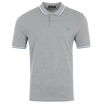 Fred Perry M3600 Twin Tipped Polo Shirt - Steel Marl