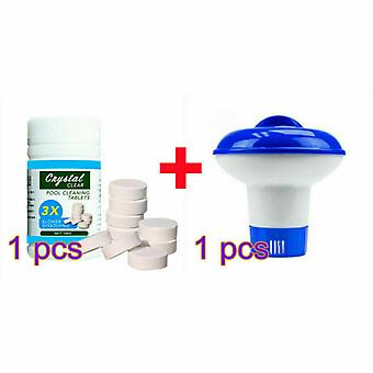 Pool Cleaning Tablet Chlorine Hot Tub Spa Chemical Floater Dispenser