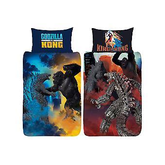 Godzilla Vs Kong Eenpersoons dekbedovertrek en kussensloop set