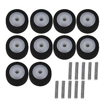 10x Tape Tape Gravador Rolante Roda de rolamento Rolo de pinça com eixo 13x6x2mm