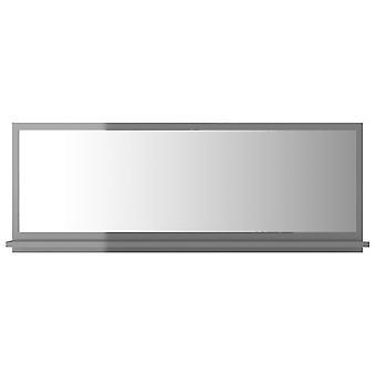 vidaXL Badspiegel Hochglanz-Grau 100x10,5x37 cm Spanplatte
