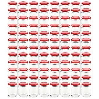 vidaXL Jam jars with red lid 96 pcs. 230 ml