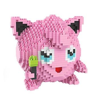 New Jigglypuff Building Blocks Puzzle Micro 3d Figures Pokemon Educational Brick Toys ES7499