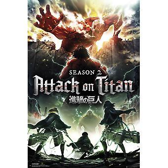 Attack On Titan Season 2 Key Art Maxi Poster