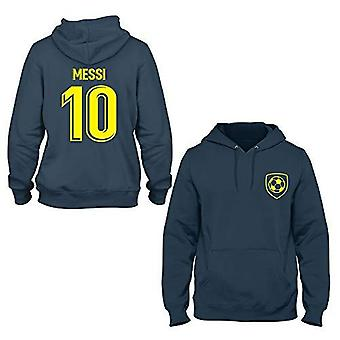 Lionel messi 10 barcelona style player hoodie-xx-large navy