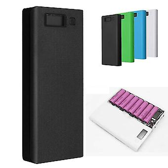 30000mAh DIY Portable Charger Charge Dual USB Battery Power Bank Case 8x18650