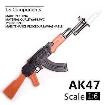 1/6 Scale Ak47 Toy Gun Soldier Weapon Model