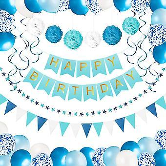 Geburtstagsdeko Jungen und Mann   Alles Gute zum Geburtstag Girlande, Ballons, Pompons & andere Geburtstag
