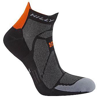 Hilly Marathon Fresh Socklets - Black/Orange