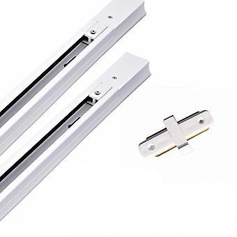 Led Track Light مع ضوء سقف لمبة Gu10 القابل للاستبدال