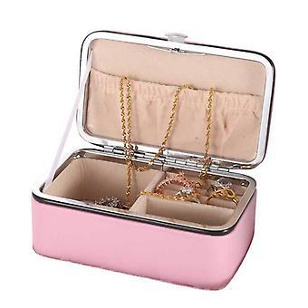 مجوهرات تخزين مربع بو الجلود السفر المجوهرات المحمولة أصحاب القضية