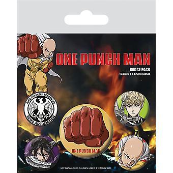 One Punch Man Destructive Badge Set (5er Pack)