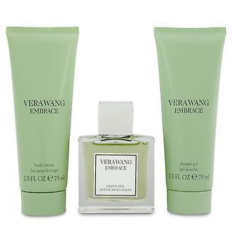 Vera wang omfamna grönt te & päronblomma present set 30ml edt + duschgel 75ml + kroppslotion