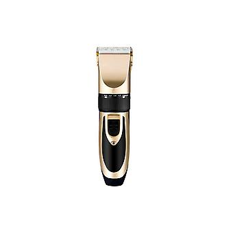Y.f.m Recargable Hombres Electric Hair Clipper Trimmer Beard Shaver 110-240v Haircut Ceramic Blade-gold