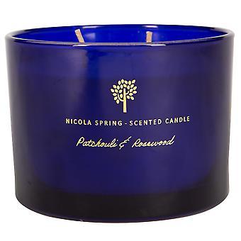 Soja wax geurkaars aromatherapie cadeau 38hr burn 350g patchouli &rosewood
