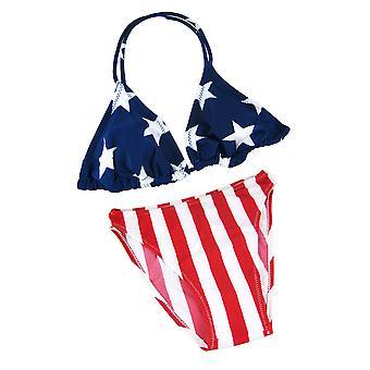 العلم الأميركي المثلث بيكيني أعلى الولايات المتحدة الأمريكية علمهم