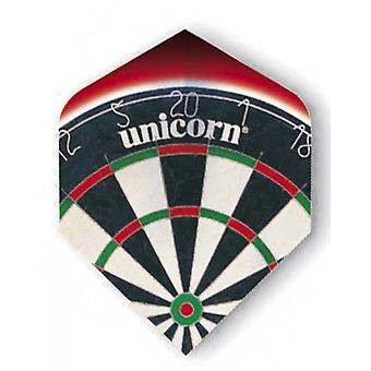 Unicorn Dart Core. 75 micron plus flygningar metalliskt Holgram Range-darttavla