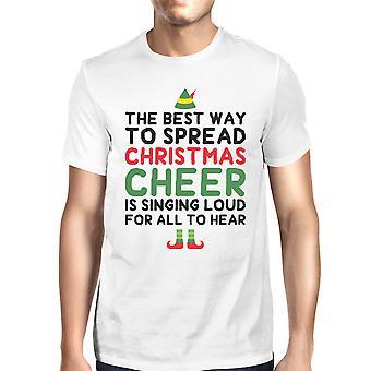 Лучший способ для распространения Рождество развеселить белые мужчины рубашка праздник подарок