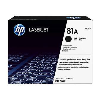HP 81A Black Original LaserJet Toner Cartridge, 10500 Pages, Black, 1 piece