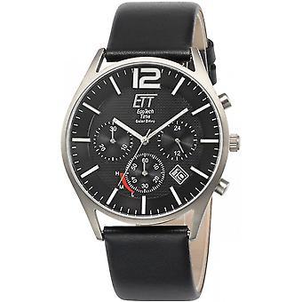 ONE (Eco Tech Time) Black Genuine Leather OJ-12051-21L Men's Watch