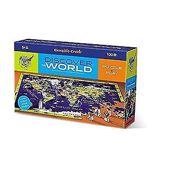 Jigsaw puzzles crocodile creek discover world animals learn play 100 piece jigsaw floor puzzle and 21 figures
