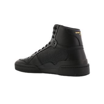 سان لوران SL أعلى الأعلى التسلل الأسود 61061804LB11000 حذاء
