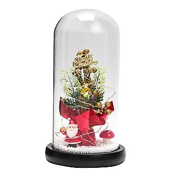 Silktaa Led Luminous Christmas Tree Glass Cover Ornaments Festival Home Decoration