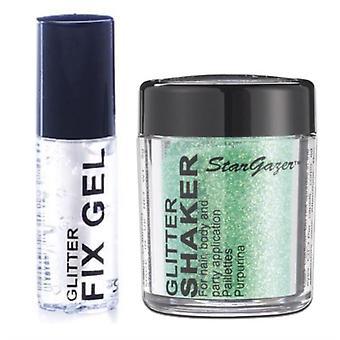 Stargazer lose Glitter Shaker mit Glitzer Fix Gel Kleber-grün