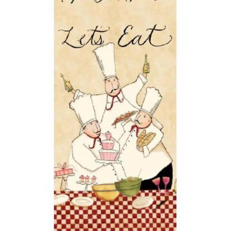 Lets Eat Master Chefs Cooking with Wine Kitchen Terry Towel