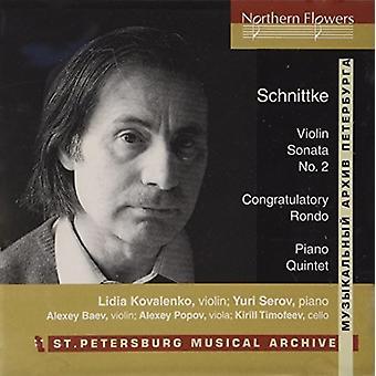 St. Petersburg Ensemble - Schnittke: Violin Sonata No. 2 Piano Quintet [CD] USA import