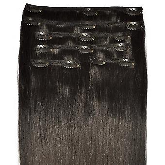 #1B Natural Black - Clip-in Hair Extensions - Full Head