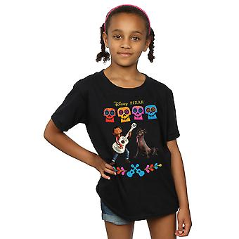 Disney Girls Coco Miguel Logo T-Shirt