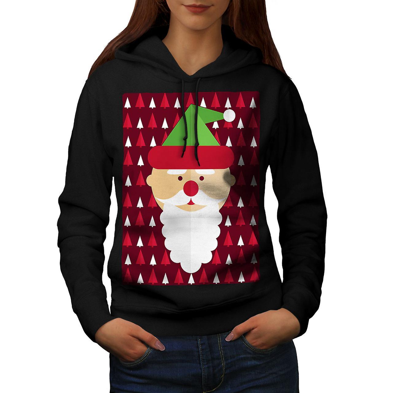 Santa söpö Cool naiset BlackHoodie | Wellcoda