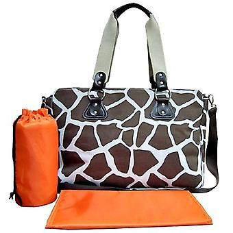 Wickelkommode Tasche Animal Print Brown