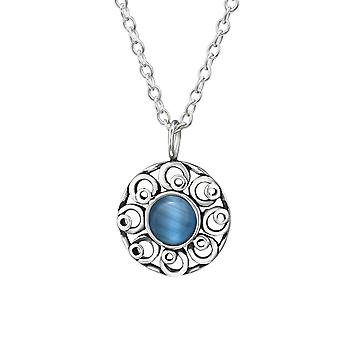 Flower - 925 Sterling Silver Jewelled Necklaces - W30918X