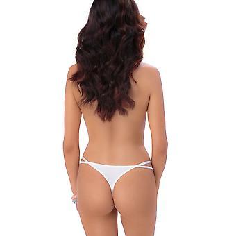 Roza Women's Nicea White Thong Panty G-String