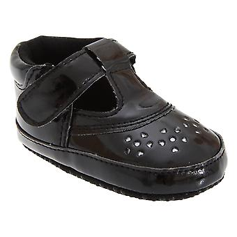 Baby Girl Shoes In Black With Strap